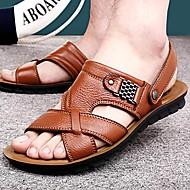 Muške cipele-Sandale-Aktivnosti u prirodi / Ležerne prilike-Koža-Crna / Smeđa / Narančasta