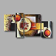 Ručně malované AbstraktníModerní Čtyři panely Plátno Hang-malované olejomalba For Home dekorace