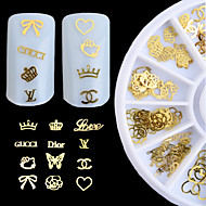 New 3d Gold Metal Nail Art Sticker Design Tiny Slice DIY Nail Accessories