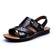 Men's Shoes Libo New Fashion Outdoor / Casual Comfort Beach Sandals Black / Brown / Orange