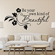 Wall Stickers Wall Decals, New Arrival Be your kind of Beautiful PVC Wall Sticker