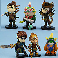 1 Generation Hero Animation Doll 6 Figure Ornaments Birthday Gift 6PC 10-11cm