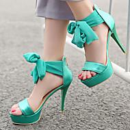 Women's Shoes Heel Heels / Peep Toe / Platform Sandals / Heels Party & Evening / Dress / Casual Green / Silver / T868