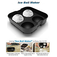 Silicon Ice Cube Ball Maker Mold Sphere Mould Brick Party Tray Round Bar