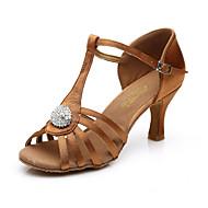Na míru-Dámské-Taneční boty-Břišní / Latina / Jazz / Taneční tenisky / Vystupovací / Taneční obuv doplňky / Swing-Satén / Kůže-Nízký