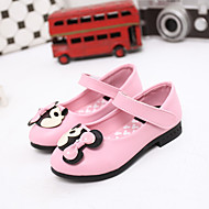 Girl's Summer Gladiator / Round Toe Leatherette Outdoor / Casual Flat Heel Applique / Rivet / Magic Tape Pink / Red / Burgundy