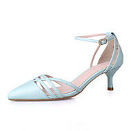 Women's Shoes Kitten Heel Pointed Toe Heels Party & Evening / Dress / Casual Blue / White