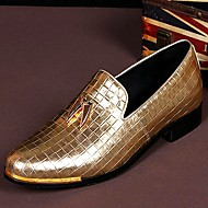 Men's Shoes Amir Pure Manual Gold Flash Stage Show Wedding / Evening Party Comfort Cowhide Leather Loafers