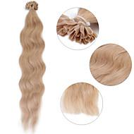 """Neitsi 20"""" 1g/s Keratin Fusion U Nail Tip Natural Wave 100% Human Hair Extensions 18#"""