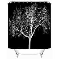 """Moderní černá strom polyester sprchové závěsy W71 """"× L71"""""""