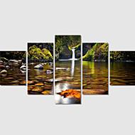 Moderni / Landscape Canvas Tulosta 5 paneeli Valmis Hang,Neliö