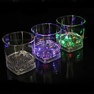 כוס צבע מים פולטת אור זכוכית אינדוקציה צבעונית רביעיית הכוס הובילה