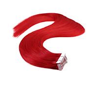 neitsi 20 '' 20τεμ 50γρ κόκκινο επεκτάσεις υφάδι δέρμα ευθεία remy επεκτάσεις ανθρώπινα μαλλιών