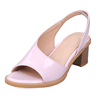 Women's Shoes Chunky Heel Open Toe Sandals/Dress Yellow/Pink/White/Silver