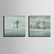 Mini Size E-HOME Oil painting Modern Winter Beach Pure Hand Draw Frameless Decorative Painting