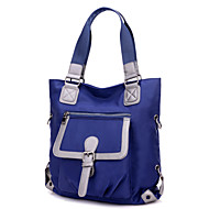 נשים ניילון ספורט / קז'ואל / שטח / קניות תיק צד / תיק נשיאה / ילקוט / ארנק למטבעות / תיק אחסון סגול / כחול / שחור