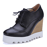 Women's Shoes Wedge Heel Wedges / Platform / Round Toe / Square Toe Oxfords Outdoor Black / White