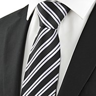 New Striped Grey Black Formal Men's Tie Necktie Wedding Party Holiday Gift #1018