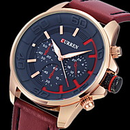 Men's Army Design Military Watch Japanese Quartz Leather Strap Cool Watch Unique Watch Fashion Watch