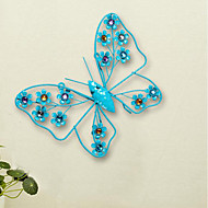 European Creative home interior walls, wrought iron wall act the role ofing butterfly