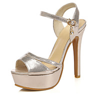 Women's Shoes Stiletto Heels/Platform/Slingback/Open Toe Sandals Party & Evening/Dress Black/Silver/Gold