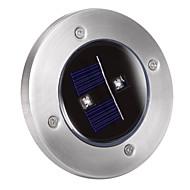 Solar 2-LED Decking Ground Light for Garden Landscape Lighting, Pathway, Stairway