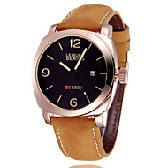 Men's Military Watch Japanese Quartz Leather Strap Cool Watch Unique Watch Fashion Wrist Watch