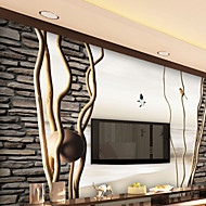 bakgrunns / Mural Art Deco Bakgrunn Luxury Tapetsering,Andre Ja