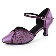 Chaussures de danse(Noir Bleu Violet Rouge Blanc Gris) -Personnalisables-Talon Personnalisé-Similicuir-Latines Modernes
