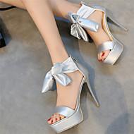 Women's / Girl's Spring / Summer / Fall Platform / Open Toe Silk Wedding / Party & Evening / Dress Stiletto HeelBowknot / Lace-up /