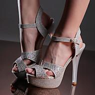 Women's Shoes Stiletto Heels/Platform/Sling back/Open Toe Wedding Sandals Party & Evening/Dress Silver/Gold