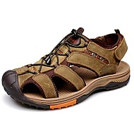 Men's Shoes Amir 2016 New Style Hot Sale Outdoor / Casual Comfort Leather Beach Sandals Brown / Yellow / Khaki