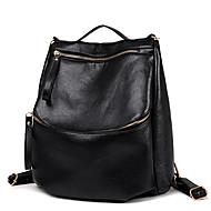 Women PU Bucket Backpack / School Bag / Travel Bag-Black