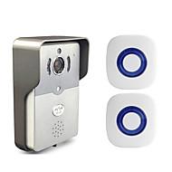 Besetey®Two Indoor Bell and One Smart Wifi Video Doorbell HD720P Full Duplex Audio Wifi Doorbell for Phone Pad PC