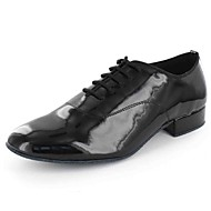 Customizable Men's Dance Shoes Leatherette Leatherette Modern Flats Flat Heel Practice Black