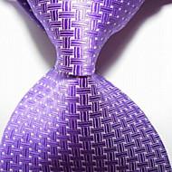 New Hot Pink Crossed JACQUARD WOVEN Men's Tie Necktie TIE2031