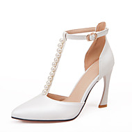 Women's / Girl's Wedding Shoes Heels / T-Strap / Pointed Toe Heels Wedding / Party & Evening / Pink / White