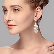 드롭 귀고리 여성용 합금 귀걸이 라인석