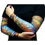 polovina tetování rukávy pro muže 2016 nově příchozí na kole manžety Návleky na ruce slunce prodyšnosti elastický jízdních kol (pár)