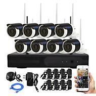 YanSe® 8CH DIY Waterproof Wireless NVR Kit 720P HD IR Night Vision Security IP Camera WIFI CCTV System P2P