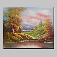 Mini Size Hand-Painted Landscape Modern Oil Painting On Canvas One Panel Ready To Hang 20x25cm