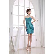 Cocktail Party Dress-Jade Sheath/Column Sweetheart Short/Mini Taffeta