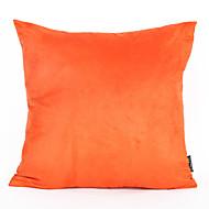 Orange Color Suede Cushion Cover