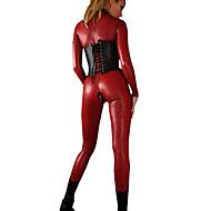 Women's PVC Leather Catsuit Zentai  Catwomen Plus Size