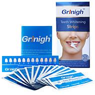 שיני grinigh® הלבינו רצועות כוללות מרכיבים טבעיים חמצן אפס עבור חיוך לבן - 14 טיפול