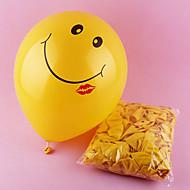 12 hüvelyk mosolygó arc léggömb 100db / set