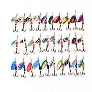 Spinner Baits 30pcs 3-3.5g Fishing Lures Metal Bait Brass Spinner
