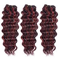3pcs 113g, top super 100% brazilian haar rauwe maagd menselijk haar weeft haar inslag, nieuwe diepe golf, natuurlijke kleurrijke hair