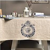royale couronne table de motifs mode en tissu hotsale de haute qualité draps en coton table basse carrée couverture en tissu éponge