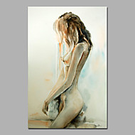 Standy Nude Girl Wall Art Acrylic Painting On Canvas WIth Stretcher Size 16*24 Inches Chinese Oil Painting Supplier